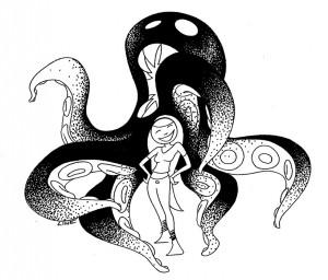 Blæksprutte monster